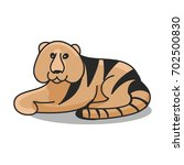 tiger pattern on a white... | Shutterstock .eps vector #702500830