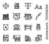 print icons set elegant series. ... | Shutterstock .eps vector #702508384