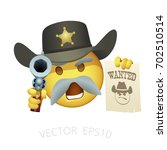 smiley of american sheriff in a ... | Shutterstock .eps vector #702510514