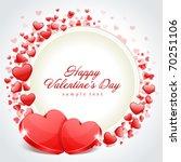 valentine's day frame vector... | Shutterstock .eps vector #70251106