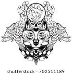 vector hand drawn  illustration ... | Shutterstock .eps vector #702511189