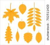 Set Of Autumn Leaves  Simple...