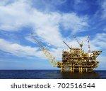 view of an offshore oil... | Shutterstock . vector #702516544