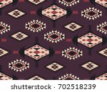 abstract ethnic pattern. ... | Shutterstock .eps vector #702518239