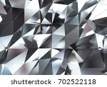 abstract 3d rendering of silver ... | Shutterstock . vector #702522118