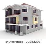 3d house isolated on white... | Shutterstock . vector #70253203