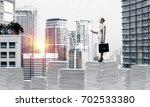 confident business woman in... | Shutterstock . vector #702533380
