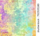 colorful scratched vintage... | Shutterstock . vector #702535180