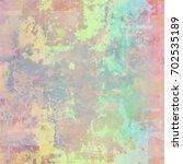 colorful scratched vintage... | Shutterstock . vector #702535189