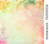 colorful scratched vintage... | Shutterstock . vector #702535216