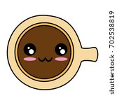 delicious coffee mug kawaii... | Shutterstock .eps vector #702538819