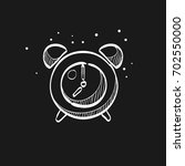 clock icon in doodle sketch... | Shutterstock .eps vector #702550000