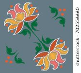 embroidery. flowers in a... | Shutterstock .eps vector #702556660