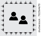 friends sign icon. social media ... | Shutterstock .eps vector #702564670