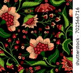 seamless pattern with fantasy... | Shutterstock .eps vector #702566716