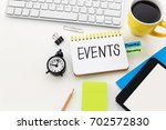 event planning with clock... | Shutterstock . vector #702572830