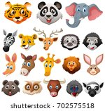 different faces of wild animals ... | Shutterstock .eps vector #702575518