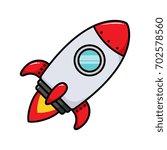 cartoon rocket ship vector... | Shutterstock .eps vector #702578560