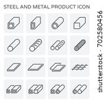 vector line icon of steel pipe... | Shutterstock .eps vector #702580456