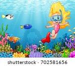 vector illustration of little... | Shutterstock .eps vector #702581656