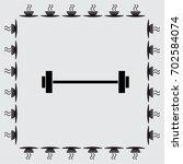 barbell vector icon | Shutterstock .eps vector #702584074