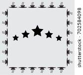 five stars vector icon | Shutterstock .eps vector #702584098