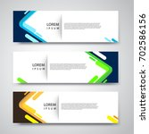 vector set abstract geometric... | Shutterstock .eps vector #702586156