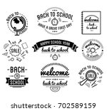 back to school typography... | Shutterstock . vector #702589159