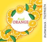 round white frame on citrus... | Shutterstock . vector #702590374