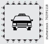 taxi car vector icon | Shutterstock .eps vector #702591118