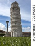 the leaning tower of pisa  | Shutterstock . vector #702593053