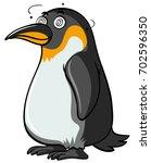 penguin with dizzy eyes on... | Shutterstock .eps vector #702596350