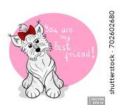 dog. a pet. vector illustration.... | Shutterstock .eps vector #702602680