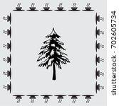 spruce vector icon | Shutterstock .eps vector #702605734
