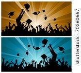 graduation party | Shutterstock .eps vector #70260667