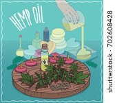 Glass Vial Of Hemp Seed Oil An...