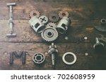 the phrase i love moto built of ... | Shutterstock . vector #702608959