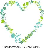 heart of nature | Shutterstock .eps vector #702619348