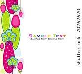 flower background. vector... | Shutterstock .eps vector #70262620