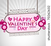 happy valentine s day... | Shutterstock .eps vector #70262632
