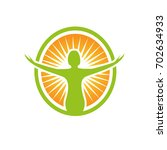 health nutrition logo | Shutterstock .eps vector #702634933
