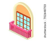 narrow balcony icon. isometric...   Shutterstock .eps vector #702648703