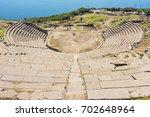 assos antique amphitheatre.... | Shutterstock . vector #702648964
