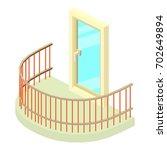 semicircular balcony icon.... | Shutterstock .eps vector #702649894