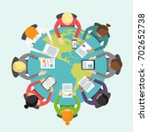 international business meeting...   Shutterstock .eps vector #702652738