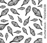 feather background hand drawn | Shutterstock . vector #702656038