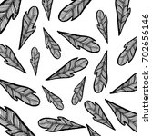 feather background hand drawn | Shutterstock . vector #702656146