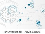 abstract background with gear... | Shutterstock .eps vector #702662008