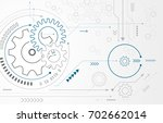 abstract background with gear... | Shutterstock .eps vector #702662014
