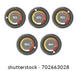 black round speedometer with... | Shutterstock .eps vector #702663028